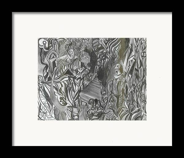 Framed Print featuring the drawing Fist Doodle by Joseph Arico