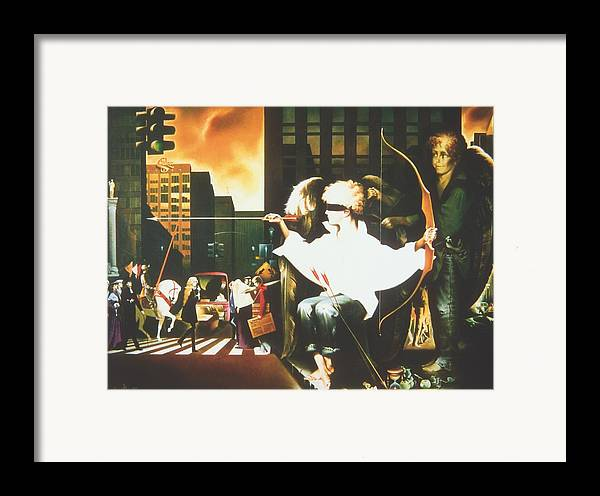 Framed Print featuring the painting Five Minutes Before Love by Andrej Vystropov