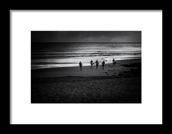 Beach Framed Print featuring the photograph Five by Paul Sommers