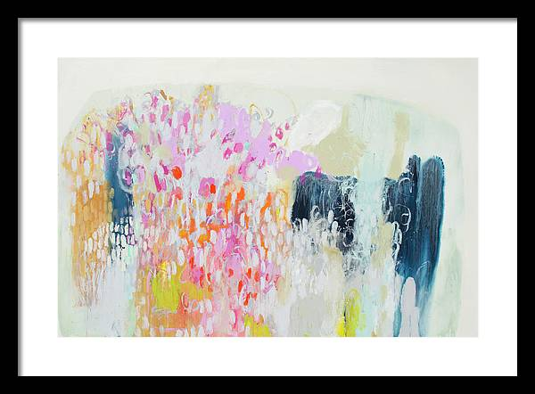 Abstract Framed Print featuring the painting Fizz by Claire Desjardins