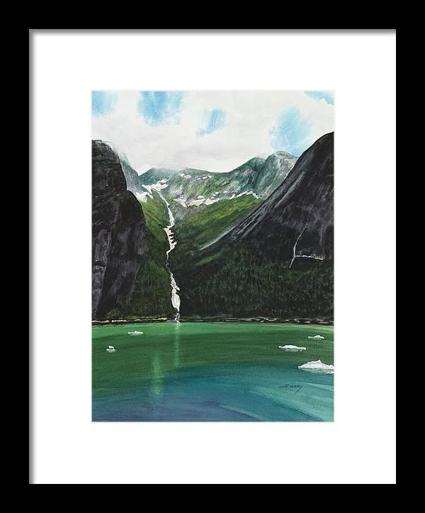 Alaska Framed Print featuring the painting Fjords Of Tracy Arm, Alaska by Johanna Wray