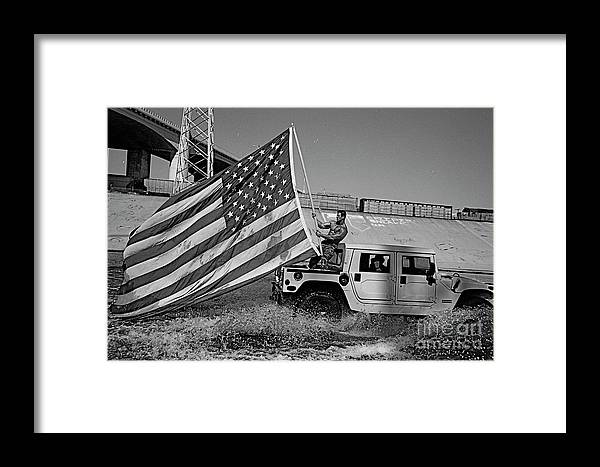 Framed Print featuring the photograph Flag by David Paul
