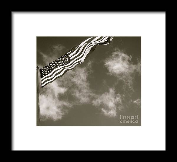 Usa Framed Print featuring the photograph Flag II by Louise Fahy