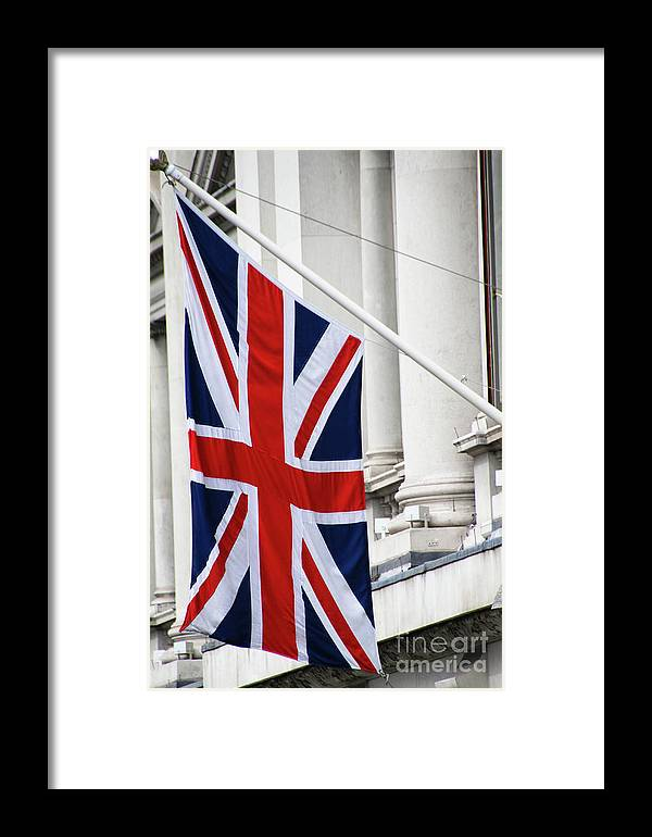 Flag Framed Print featuring the photograph Flag Of Great Britain by Stephanie Hanson
