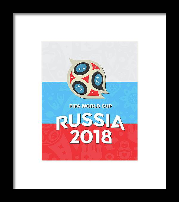 Flag Framed Print featuring the digital art Flag Russia World Cup by Bung Dano