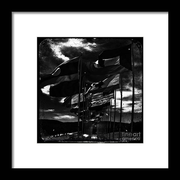 Admarshall Framed Print featuring the photograph Flags by AD Marshall