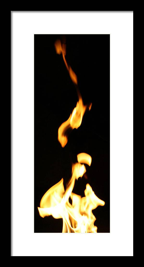 Close Up Framed Print featuring the photograph Flame Face by Joshua Sunday