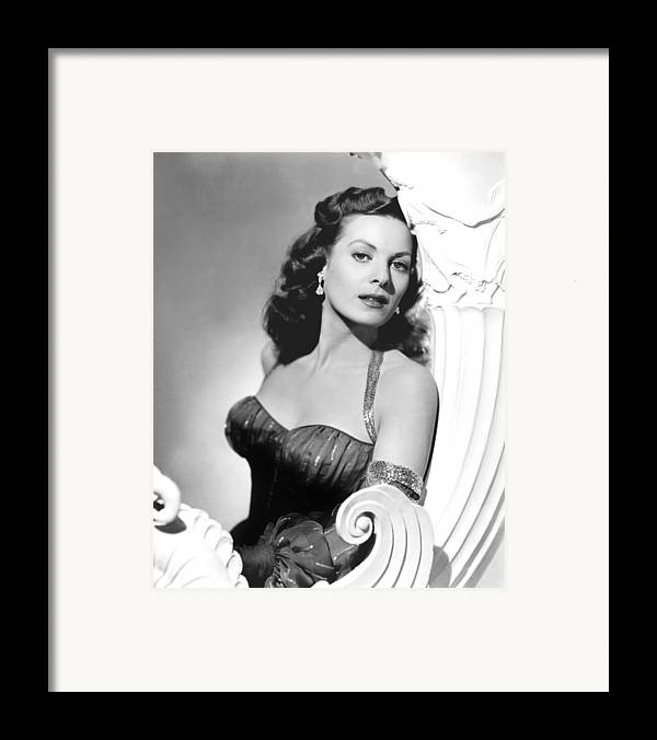 1950s Portraits Framed Print featuring the photograph Flame Of Araby, Maureen Ohara, 1951 by Everett