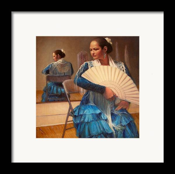Realism Framed Print featuring the painting Flamenco 1 by Donelli DiMaria