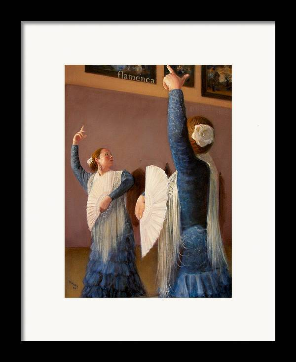 Realism Framed Print featuring the painting Flamenco 6 by Donelli DiMaria