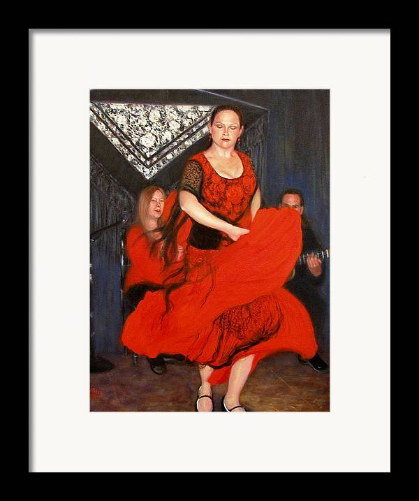 Realism Framed Print featuring the painting Flamenco 8 by Donelli DiMaria