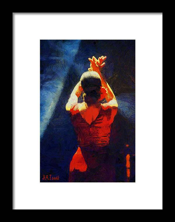 Ballet Framed Print featuring the digital art Flamenco Dolores by Humphrey Isselt