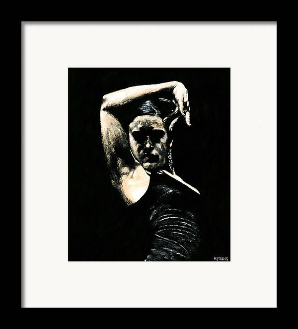 Fanny Ara Framed Print featuring the painting Flamenco Soul by Richard Young