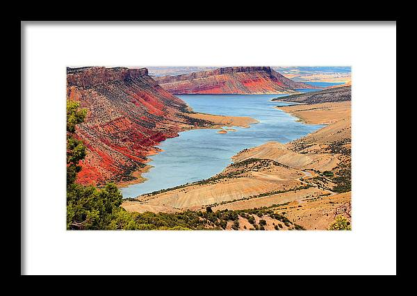 Flaming Gorge Framed Print featuring the photograph Flaming Gorge by Kristin Elmquist