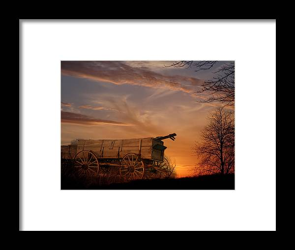 Wagon Framed Print featuring the photograph Flashback by Theresa Campbell
