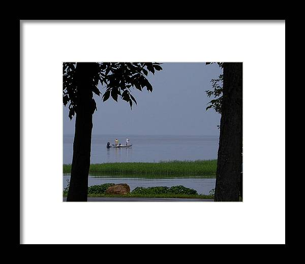 Fishing Framed Print featuring the photograph Flat Water Fishing by Lisa Kane