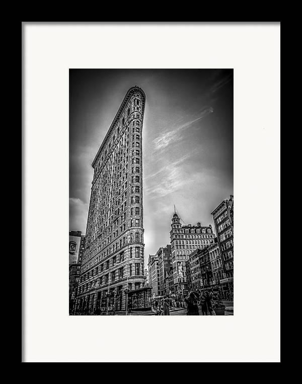 Architecture Framed Print featuring the photograph Flatiron by Shari Mattox