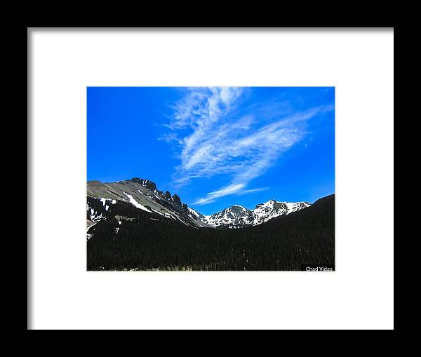 Colorado Framed Print featuring the photograph Flats Tops by Chad Vidas