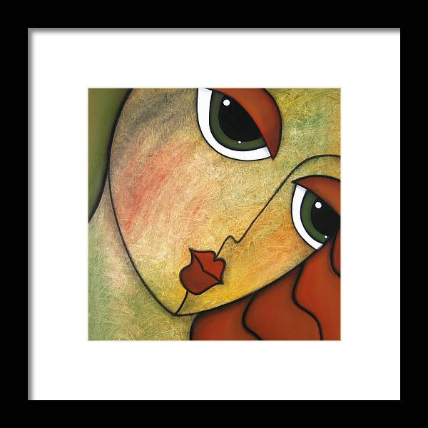 Pop Art Framed Print featuring the painting Flawless by Tom Fedro