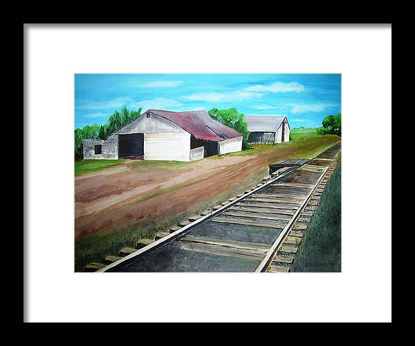 Landscape Framed Print featuring the painting Flemington R.r. by Joe Lanni