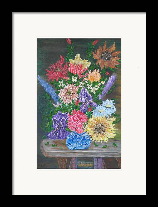 Floral Framed Print featuring the painting Flemish Floral by Mikki Alhart