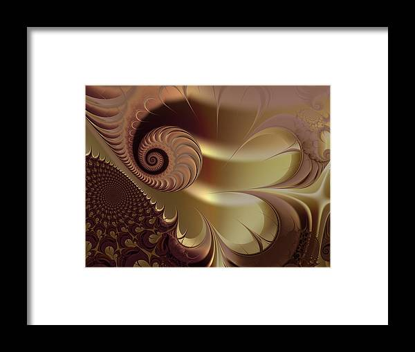 Fractal Framed Print featuring the digital art Flesh by Vicky Brago-Mitchell