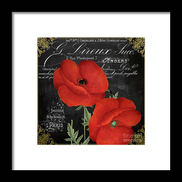 Poppy Framed Print featuring the painting Fleur Du Jour Poppy by Mindy Sommers