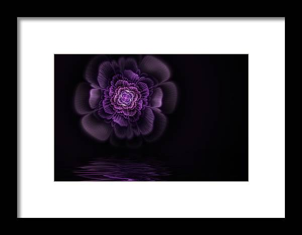 Flame Fractal Framed Print featuring the digital art Fleur by John Edwards