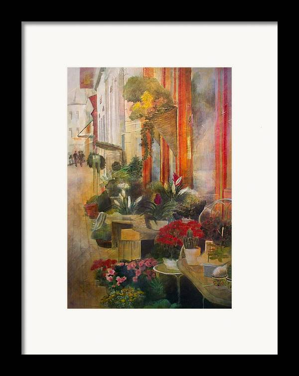 Flowers Framed Print featuring the painting Fleuriste by Victoria Heryet