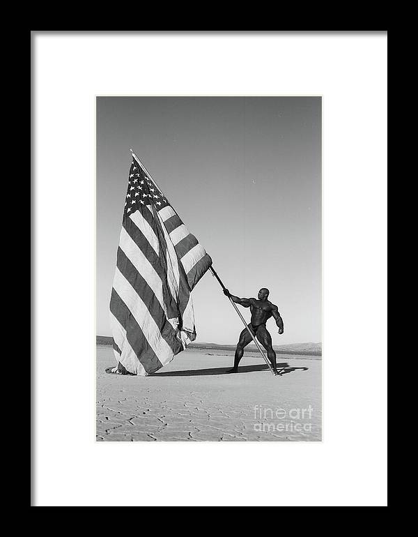 Framed Print featuring the photograph Flex Flag by David Paul