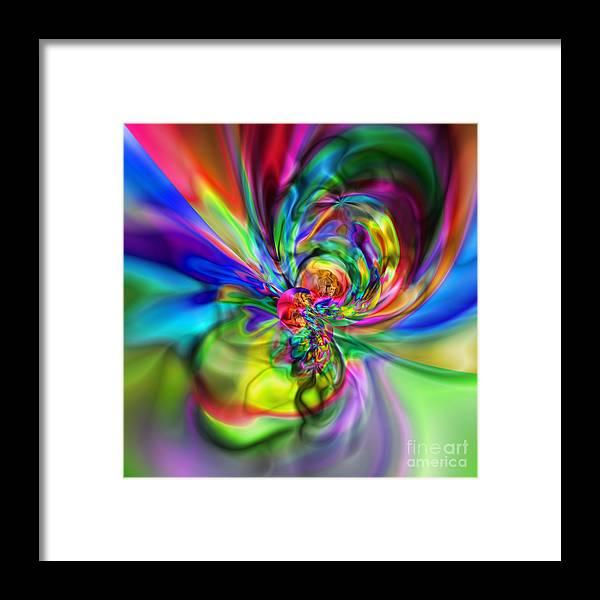 Zen Framed Print featuring the digital art Flexibility 17caa by Rolf Bertram