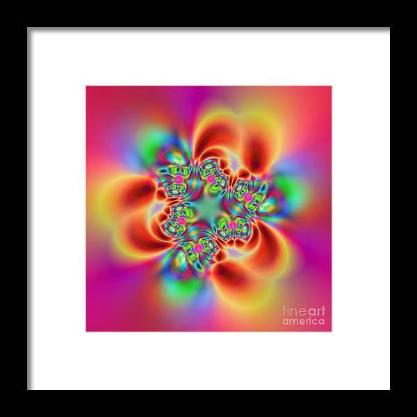 Colorful Framed Print featuring the digital art Flexibility 18bb by Rolf Bertram