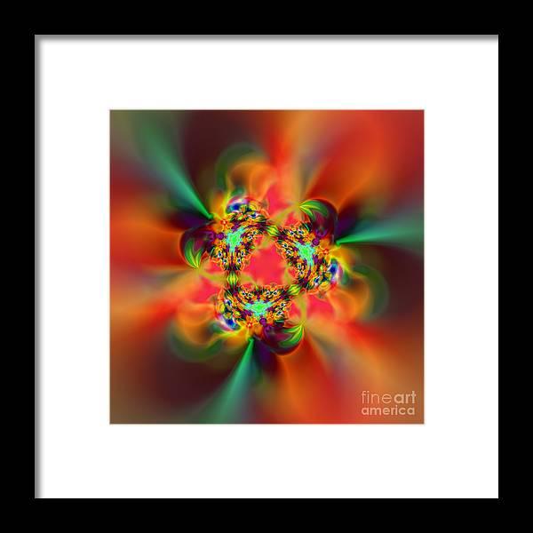 Zen Framed Print featuring the digital art Flexibility 20ba by Rolf Bertram