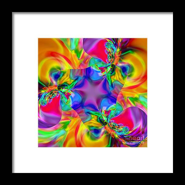 Kaleidoscopic Framed Print featuring the digital art Flexibility 20caa by Rolf Bertram