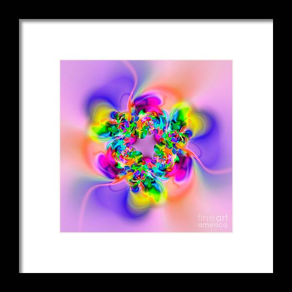 Spinning Framed Print featuring the digital art Flexibility 30c by Rolf Bertram