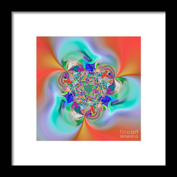 Abstract Framed Print featuring the digital art Flexibility 32e by Rolf Bertram