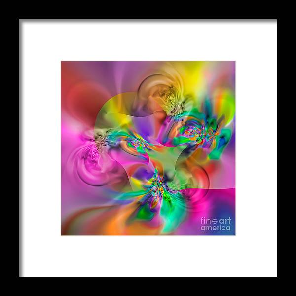 Abstract Framed Print featuring the digital art Flexibility 34eaa by Rolf Bertram