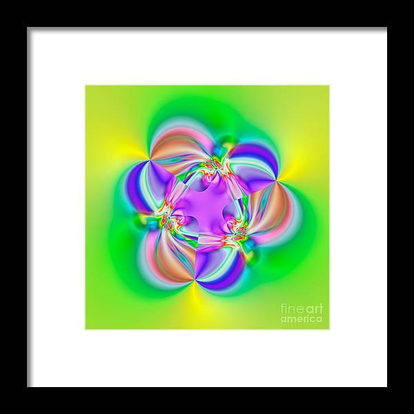 Abstract Framed Print featuring the digital art Flexibility 39b1a by Rolf Bertram