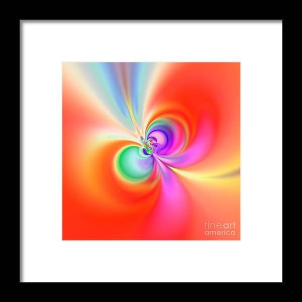 Abstract Framed Print featuring the digital art Flexibility 39b1aa by Rolf Bertram