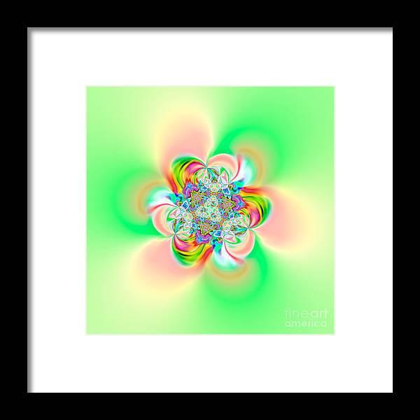 Abstract Framed Print featuring the digital art Flexibility 39e2 by Rolf Bertram