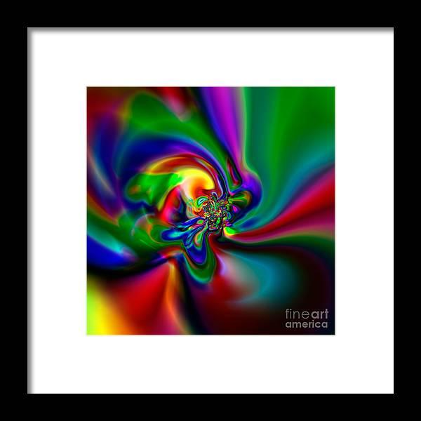 Abstract Framed Print featuring the digital art Flexibility 49a1 by Rolf Bertram