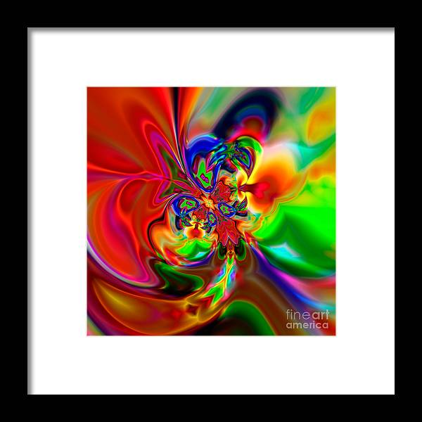 Abstract Framed Print featuring the digital art Flexibility 49ea by Rolf Bertram