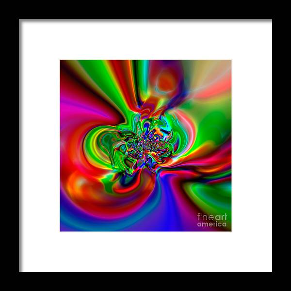 Abstract Framed Print featuring the digital art Flexibility 49h by Rolf Bertram