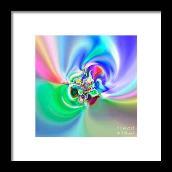 Abstract Framed Print featuring the digital art Flexibility 51a by Rolf Bertram