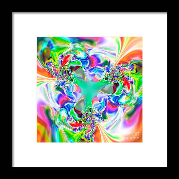 Abstract Framed Print featuring the digital art Flexibility 51ab by Rolf Bertram