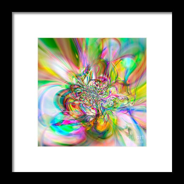 Abstract Framed Print featuring the digital art Flexibility 56aaa by Rolf Bertram