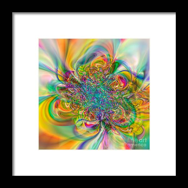 Abstract Framed Print featuring the digital art Flexibility 57abc by Rolf Bertram