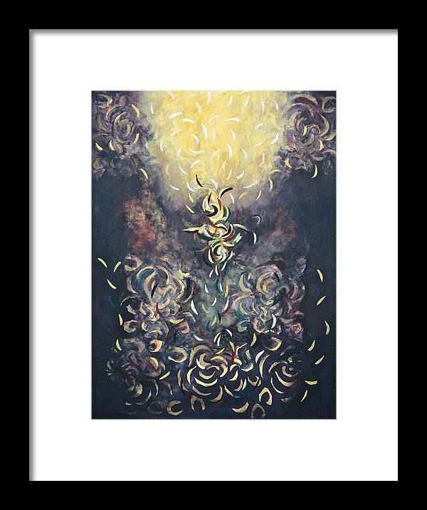 Light Framed Print featuring the painting Flick by Andrada Ionescu