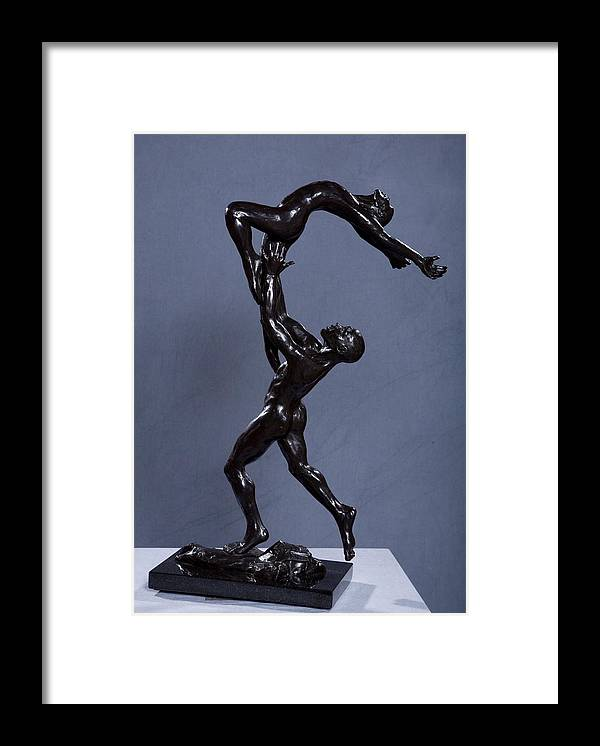 Male And Female Framed Print featuring the sculpture Flight by Dan Earle
