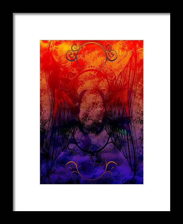 Flight Framed Print featuring the digital art Flight Of The Phoenix by Christopher Sprinkle